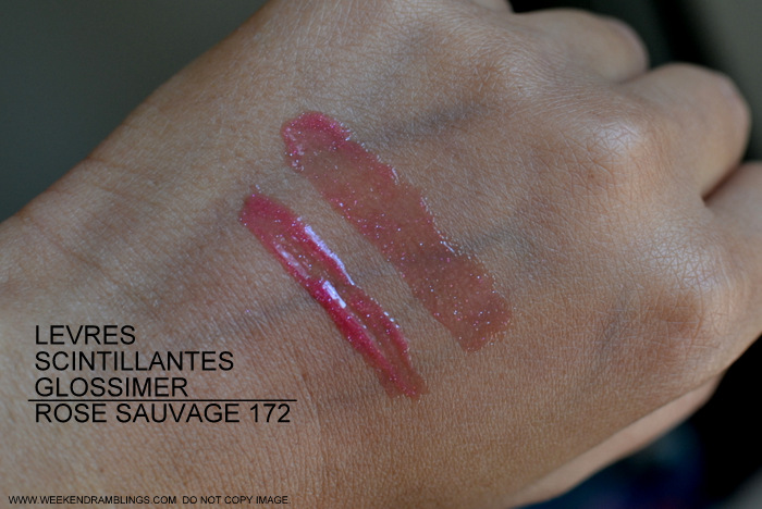 Chanel Levres Scintillantes Glossimer Rose Sauvage 172 Revelation Makeup Collection Spring Summer 2013 Photos Swatches Review FOTD Makeup Beauty Blog Indian Darker Skin