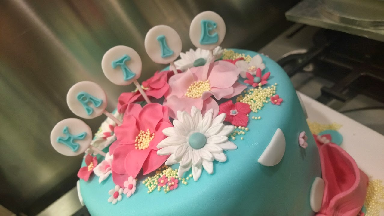 What Kates Doing Pretty Birthday Cake For A Little Girl Called Katie