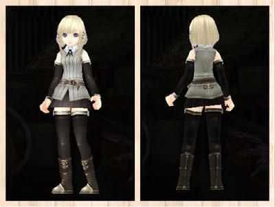 冒険者の服灰色1・軽量化