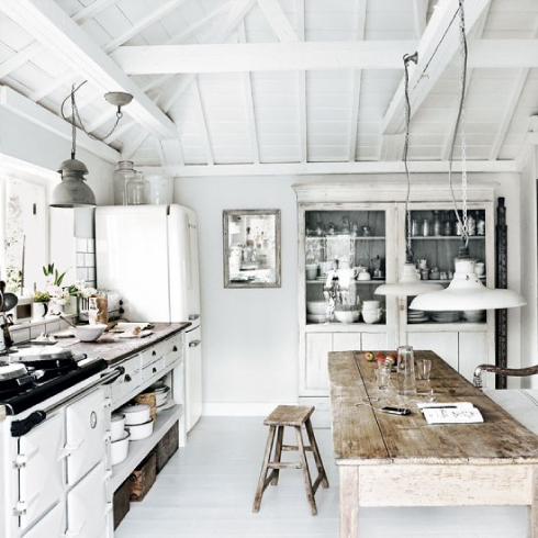 cocina blanca estilo nordico moderno