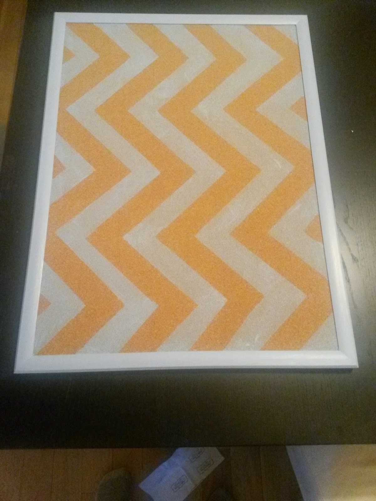 Painted Chevron Cork Board from The Delightful