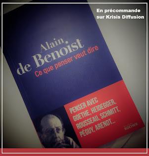 Présentation du livre d'Alain de Benoist