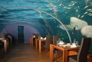 Restaurant Ter Unik DI DUnia di maladewa