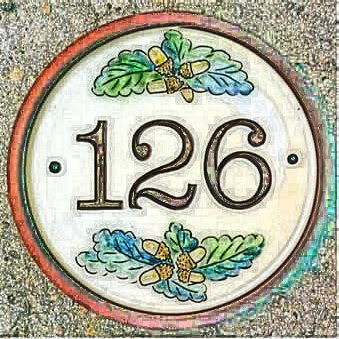 House number sign 126