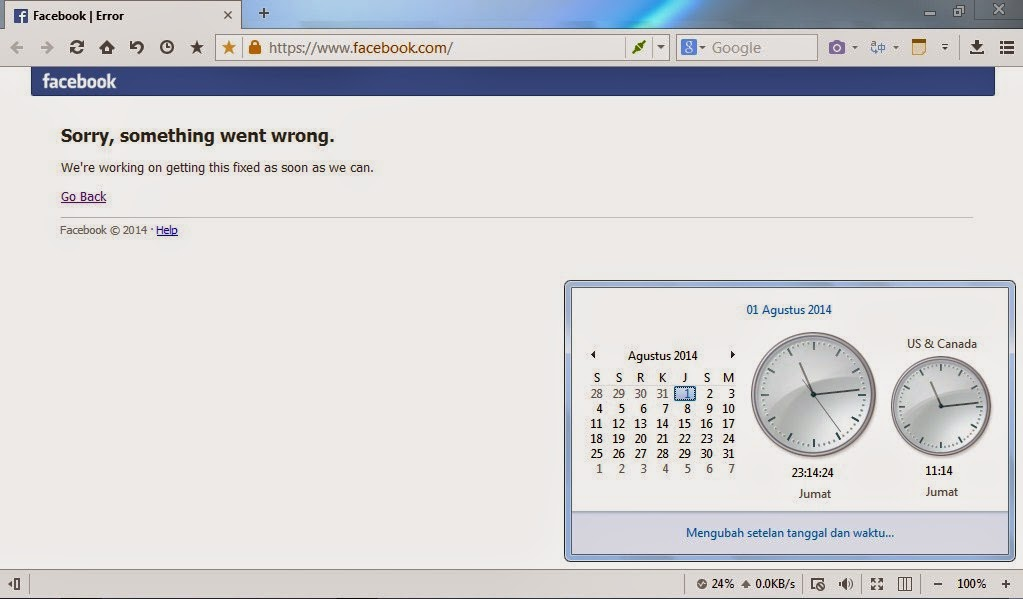Facebook Error (Sorry, Something Went Wrong)