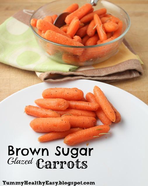 Brown Sugar Glazed Carrots - Yummy Healthy Easy