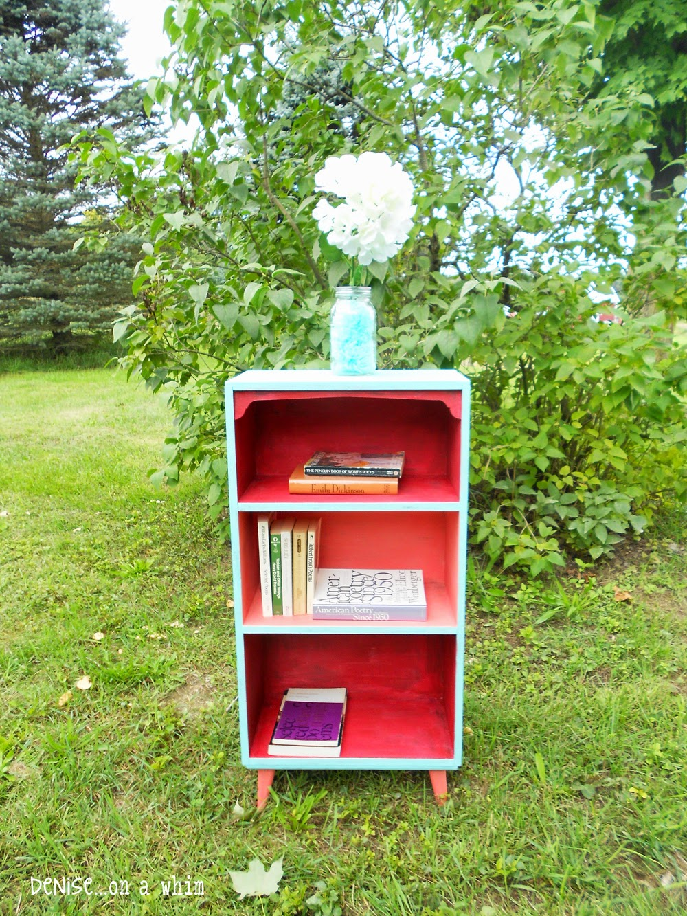 Drab to Fab Bookcase Makeover from Denise on a Whim
