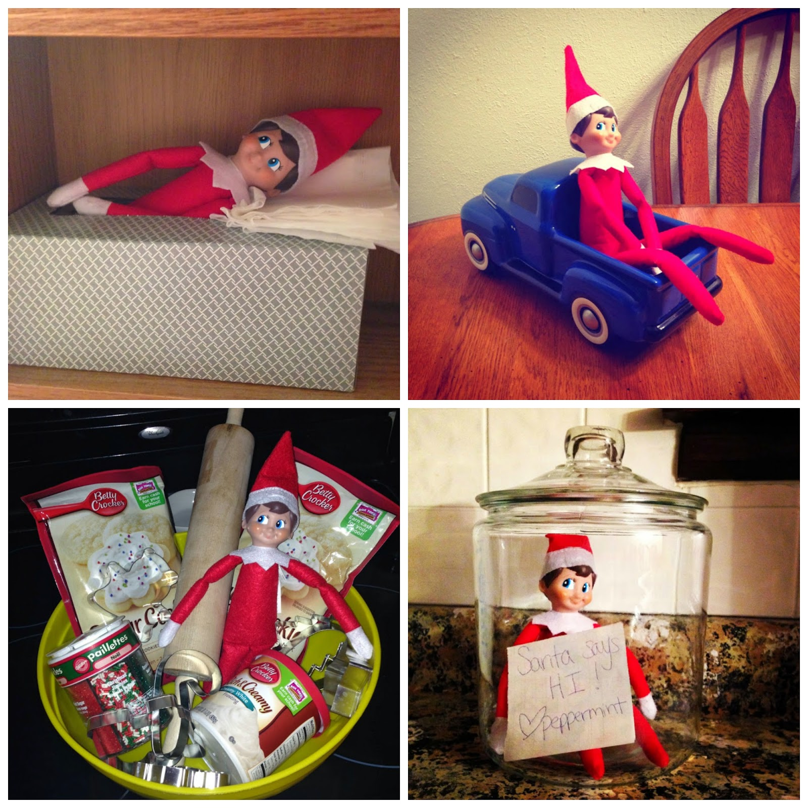 Elf on The Shelf Favorites #elfontheshelf  Easy Elf on the Shelf Ideas.  Elf on the shelf toddler ideas Elf on the shelf calendar