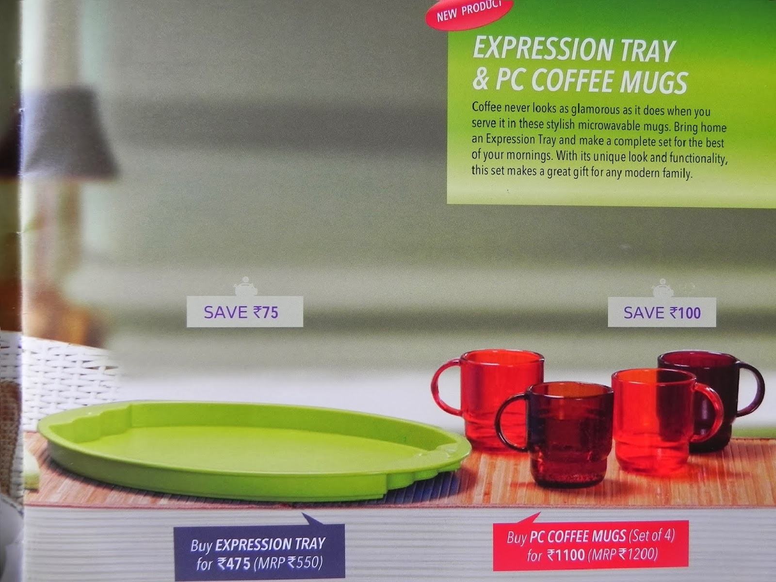 Tupperware India November Flyer 2013 Bring Your Own Lunch Set Prism Bowls