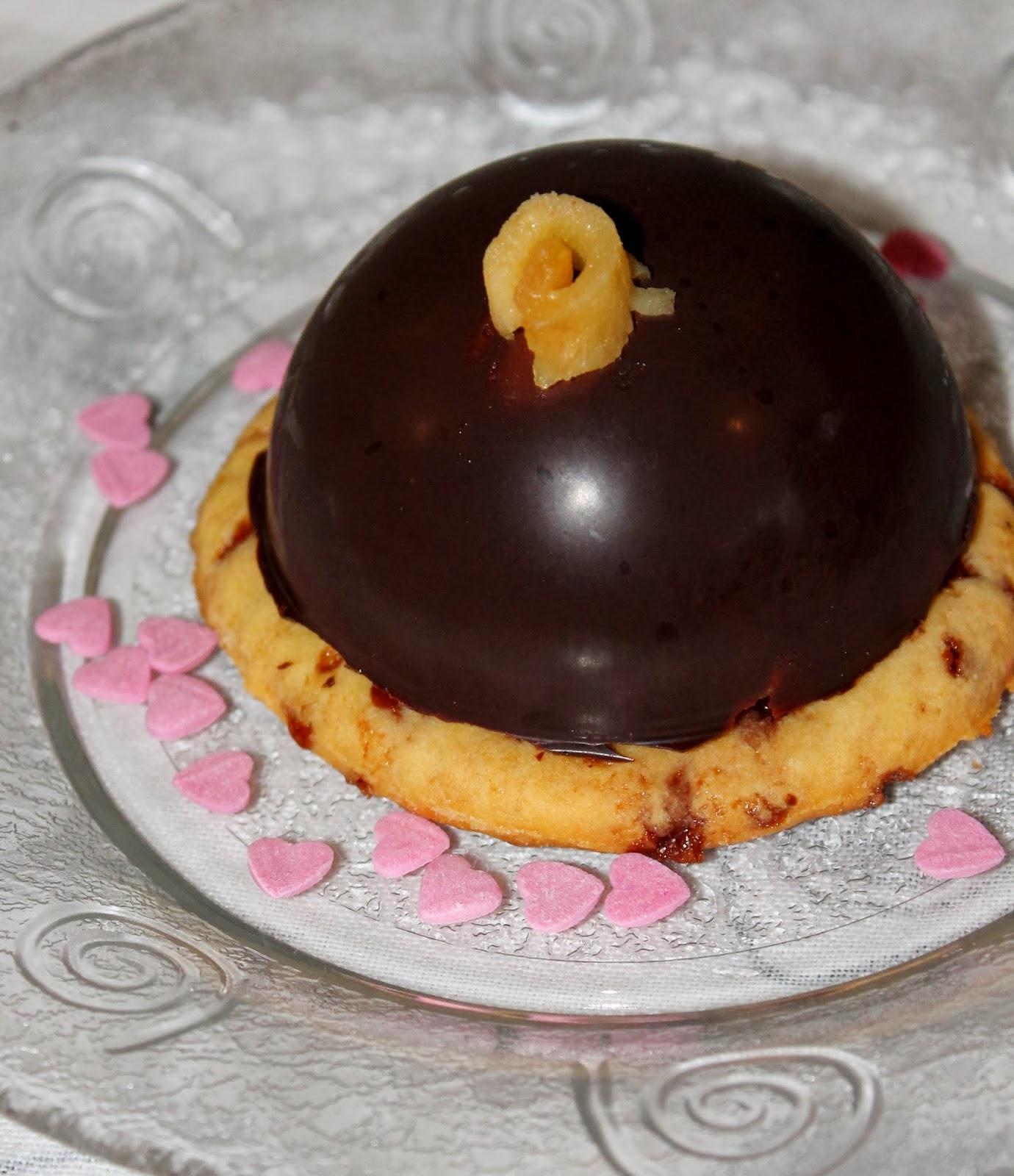 Une Pipelette En Cuisine | Dome A La Mousse De Carambars Pommes Poelees Et Biscuit Au Caramel