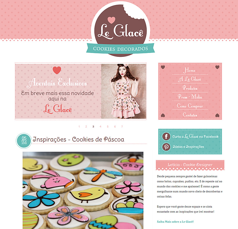Blog Design e Identidade Visual LE GLACÊ - Emporium Digital - Blogs ...: emporiumdigital.blogspot.com/2013/02/blog-design-logomarca-e...