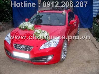 Cho thuê xe cưới Hyundai Genesis hạng sang