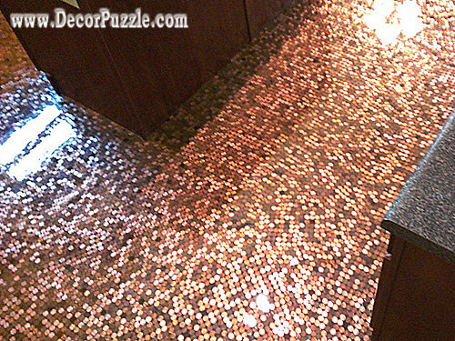 penny floor tile creative flooring ideas and options - Unique Tile Floors