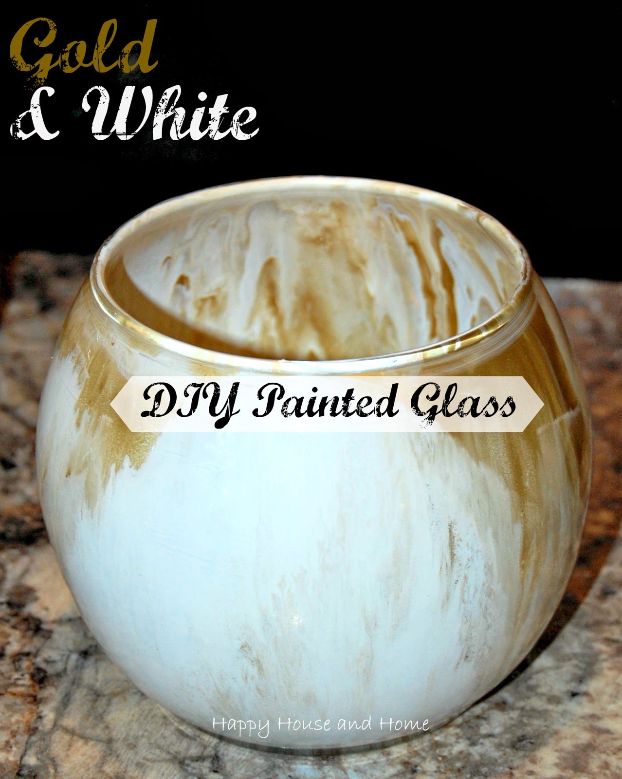 DIY painted glass, paint swirl vases, painted glass