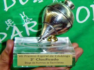 Peonza de plata, categoría Blogs de Bachillerato