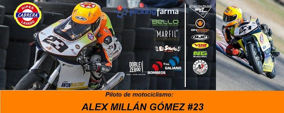 Alex Millán Gómez. Piloto de Motociclismo.