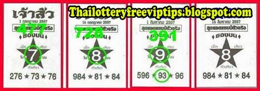 Thai Lottery single digit 16-08-2014