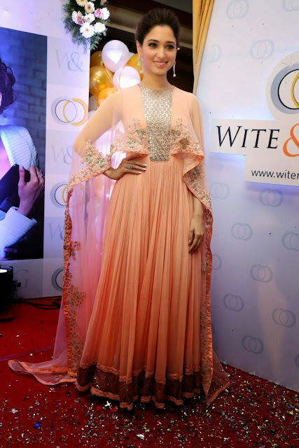 Tamanna Bhatia Looks Super Sexy At White & Gold Jewelry Collection Launch