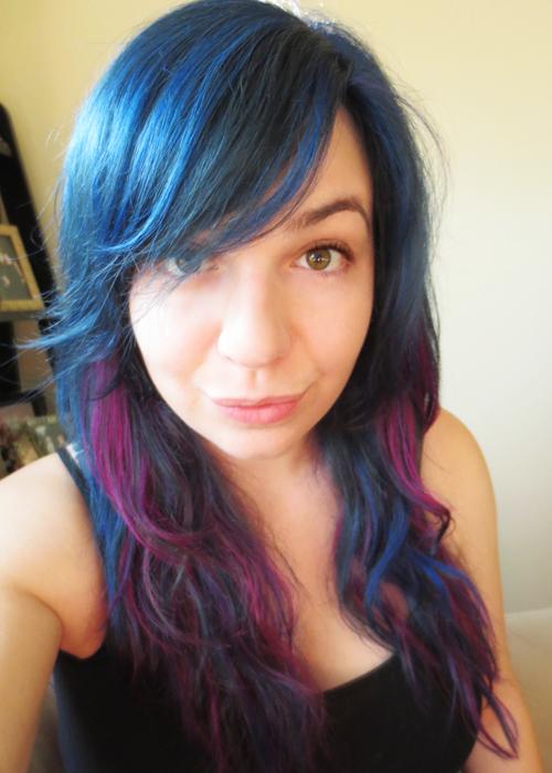 Splat Hair Dye Blue Envy Without Bleach I love love love my new hair.