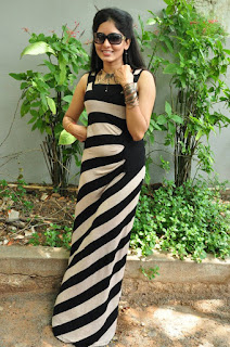Actress Madhumitha Pictures in Long Dress at Fida Movie Launch (2)