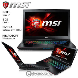 Harga Laptop Gaming MSI GE62 6QD Apache Pro