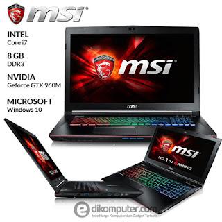 Harga Laptop Gaming MSI GE62 6QD Apache Pro