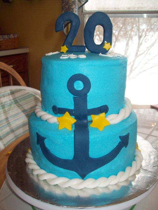 Bb Cakes 20th Birthday Navy Cake