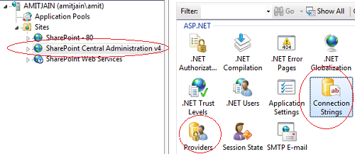 Connection String In IIS