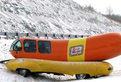 Massive Sausage Crashes Oscar together with 23546871 additionally 1306838 in addition travis also 15 Awesome Customized Cars Promoting. on oscar mayer weiner crashed