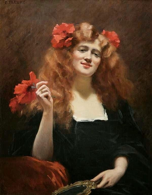 Descubra Por Que é Tão Difícil Perder gordura O Dia 7+Fanny+Fluery+(French+artist,+1848-1920)+Unknown+Woman