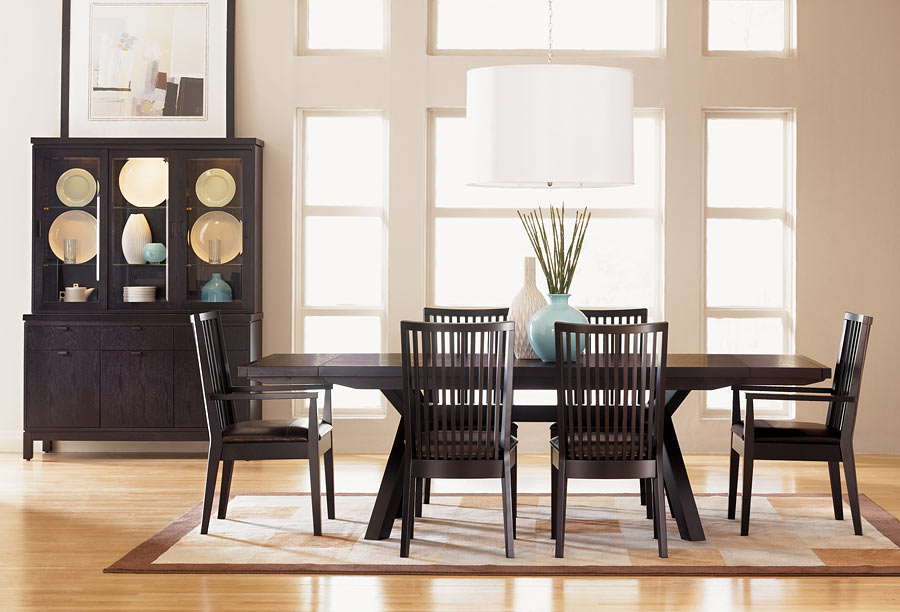 Asian contemporary dining room furniture from haiku designs for Modern dining room design