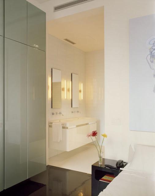 Ванная комната совмещенная с спальней