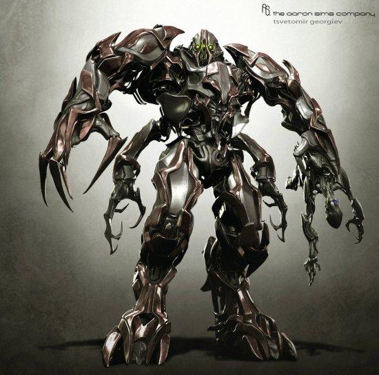 Tsvetomir Georgiev ilustrações artes conceituais e modelos 3D filmes Design para o filme Transformers 3