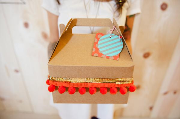 cajita con confeti para invitados