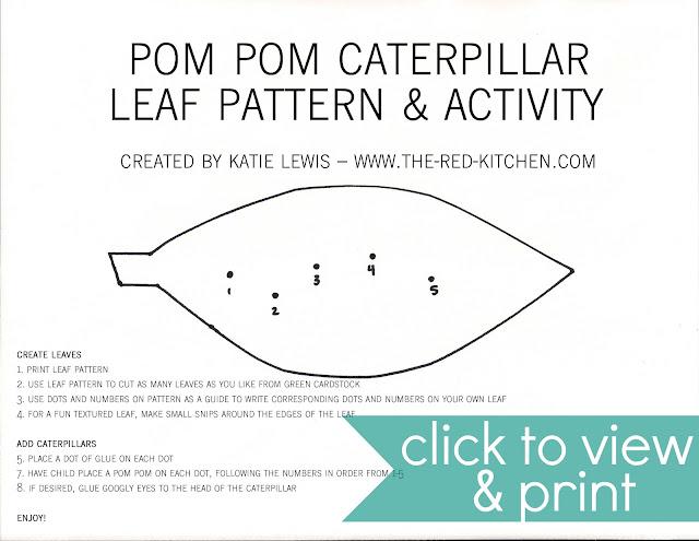 The red kitchen pom pom caterpillars free printable pattern the red kitchen pom pom caterpillars free printable pattern tutorial maxwellsz