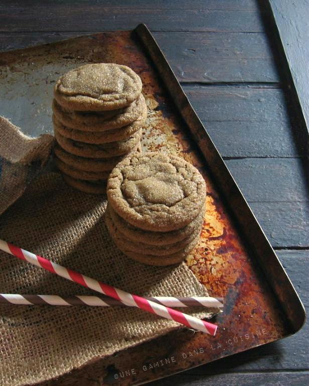 Ginger Rum Molasses Cookies |une gamine dans la cuisine
