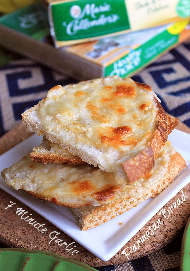 Momma's simple 10 minute Garlic Parmesan Bread recipe. A #FrozenMustBuy companion recipe! #ad