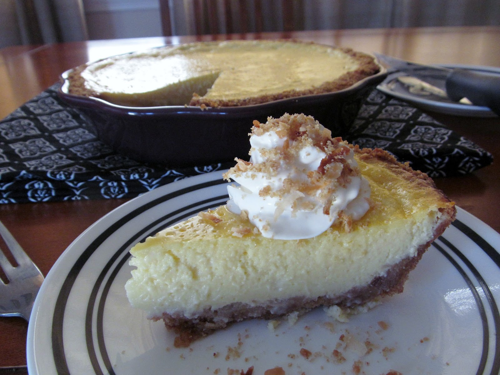 Crafty Cook: Coconut Key Lime Pie with Toasted Coconut Crust