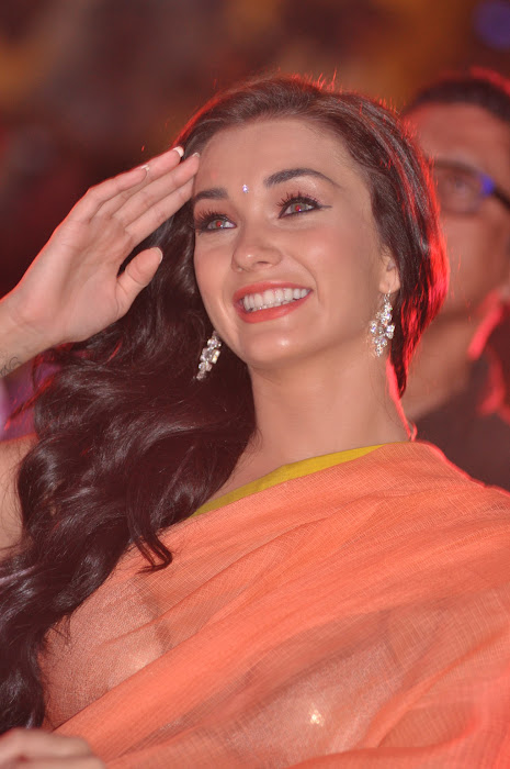 amy jackson spicy at thandavam audio launch cute stills