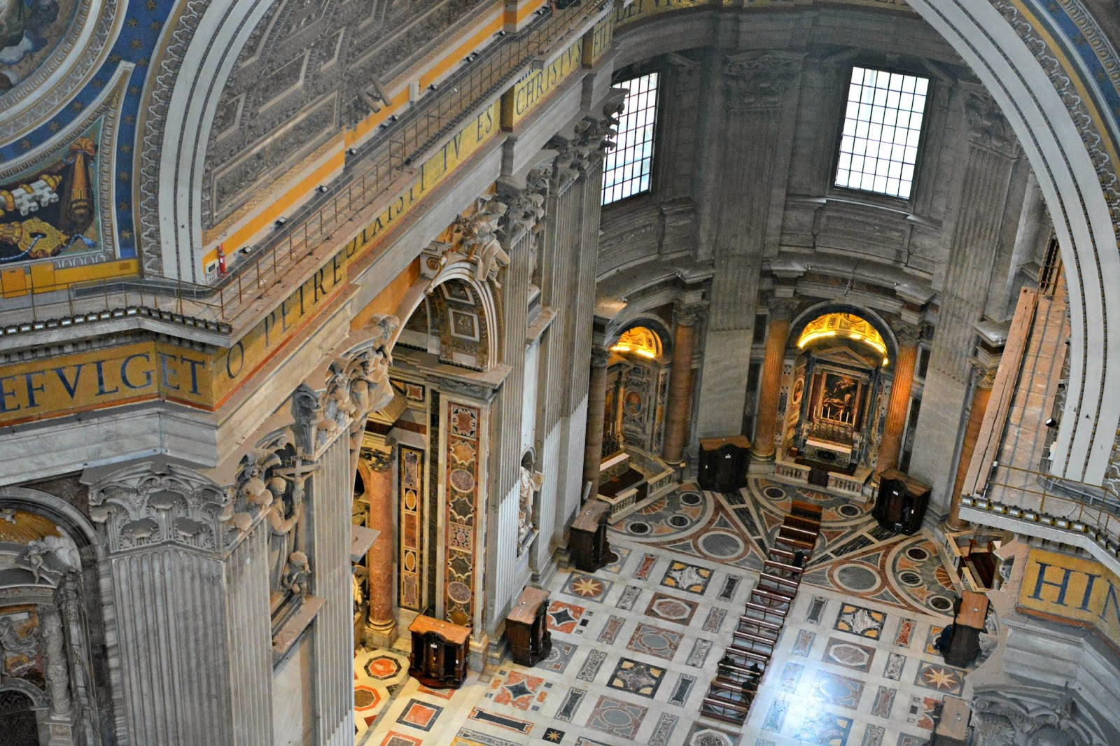 View inside St Peter's Basilica from the dome
