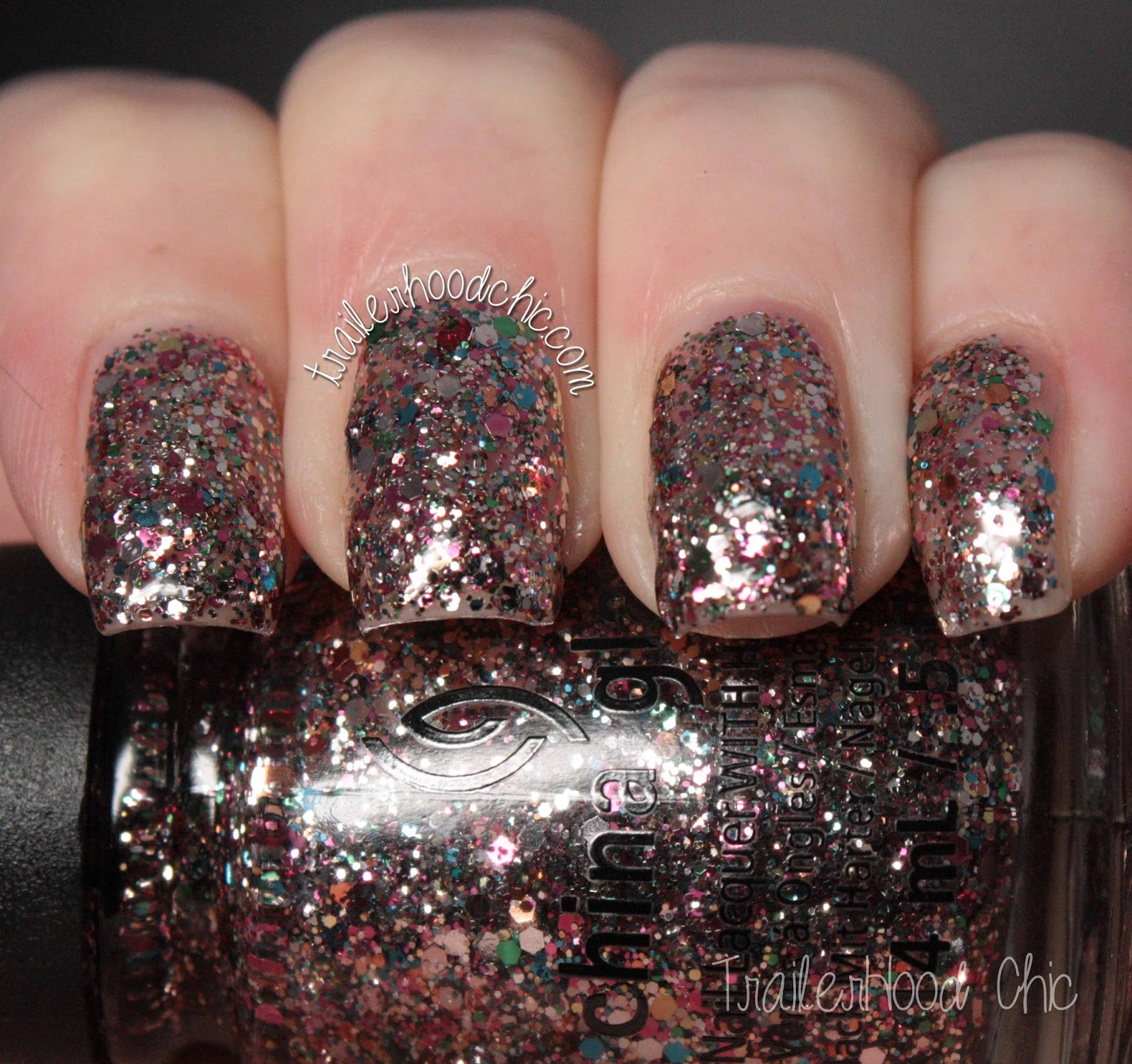 china glaze twinkle swatches dancing & prancing