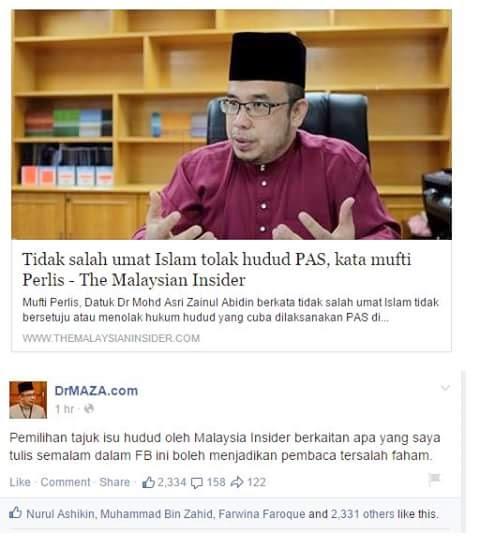 THE MALAYSIAN INSIDER NI MACAM SENGAJA NAK PEMBACA SALAH FAHAM DGN DR MAZA