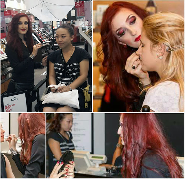 Make-upaciugo, make-upaciugo, make-upaciughi, Vogue Fashion Night Out Firenze, Vogue Fashion Night Out Firenze 17 Settembre 2015, VFNO, Coin Firenze, YSL, Yves Saint Laurent, Lancome, Trucco rosso nero,