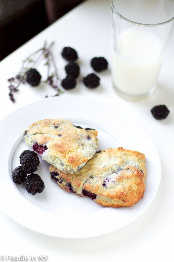 Click for recipe for Cinnamon Basil Blackberry Scones