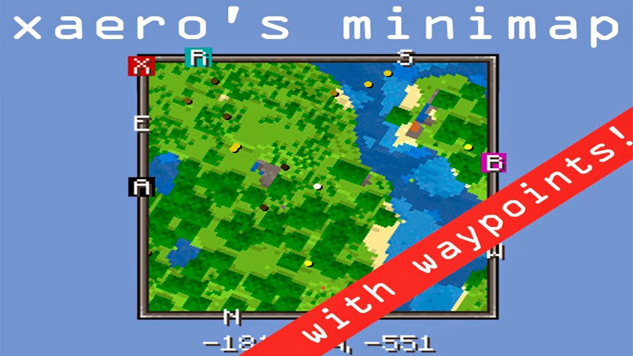 Xaero's Minimap Mod 1.8.8