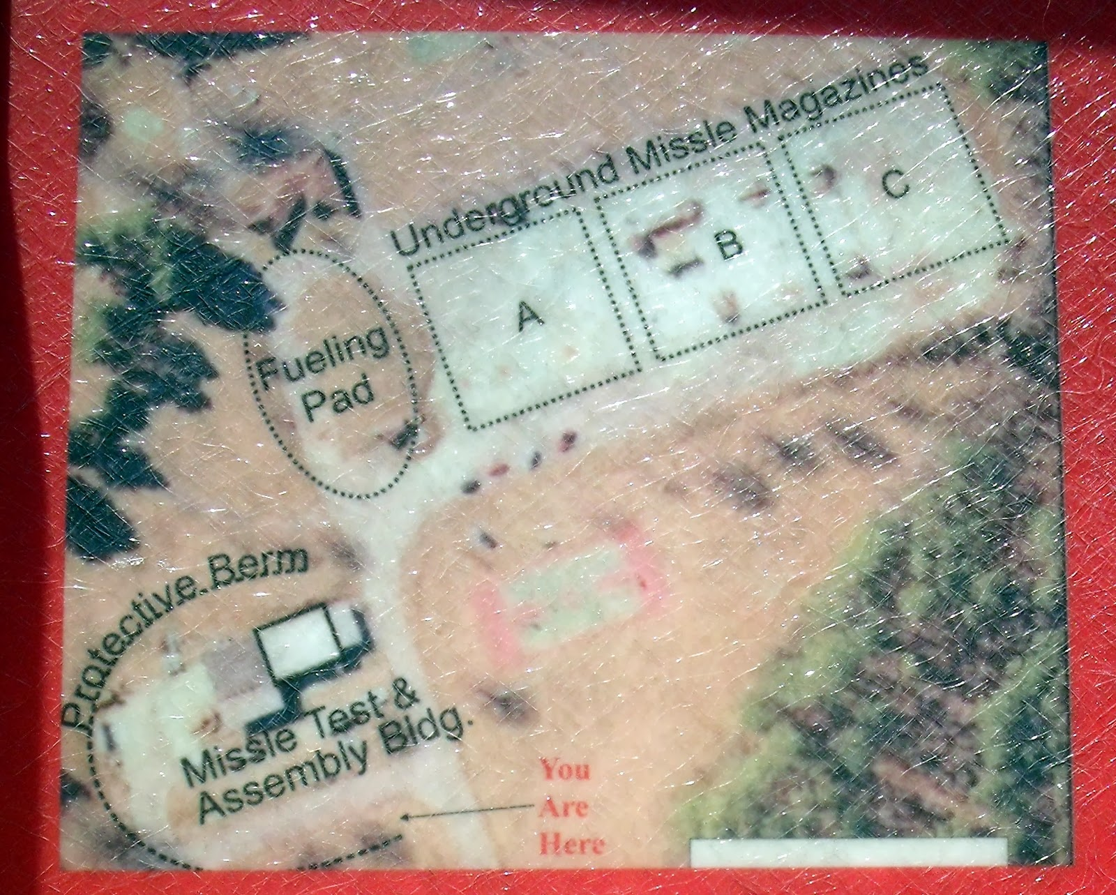 map of missile site at nike park