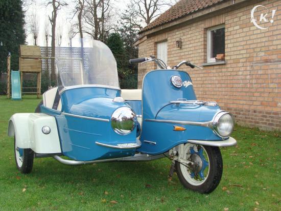 Cezeta la boheme  Jawa scooter with sidecar  Motorcycle Modification