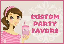 Custom Party Favors Button