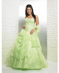 Vestido boda color verde