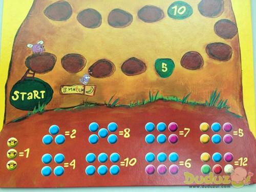 玩家如果想移動多少步,就得擲出什麼樣的顏色圖案